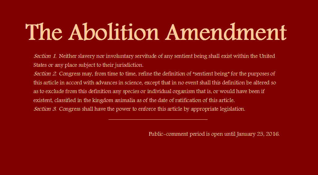 Abolition Amendment to the U.S. Constitution