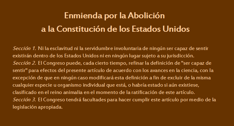 Enmienda por la Abolición