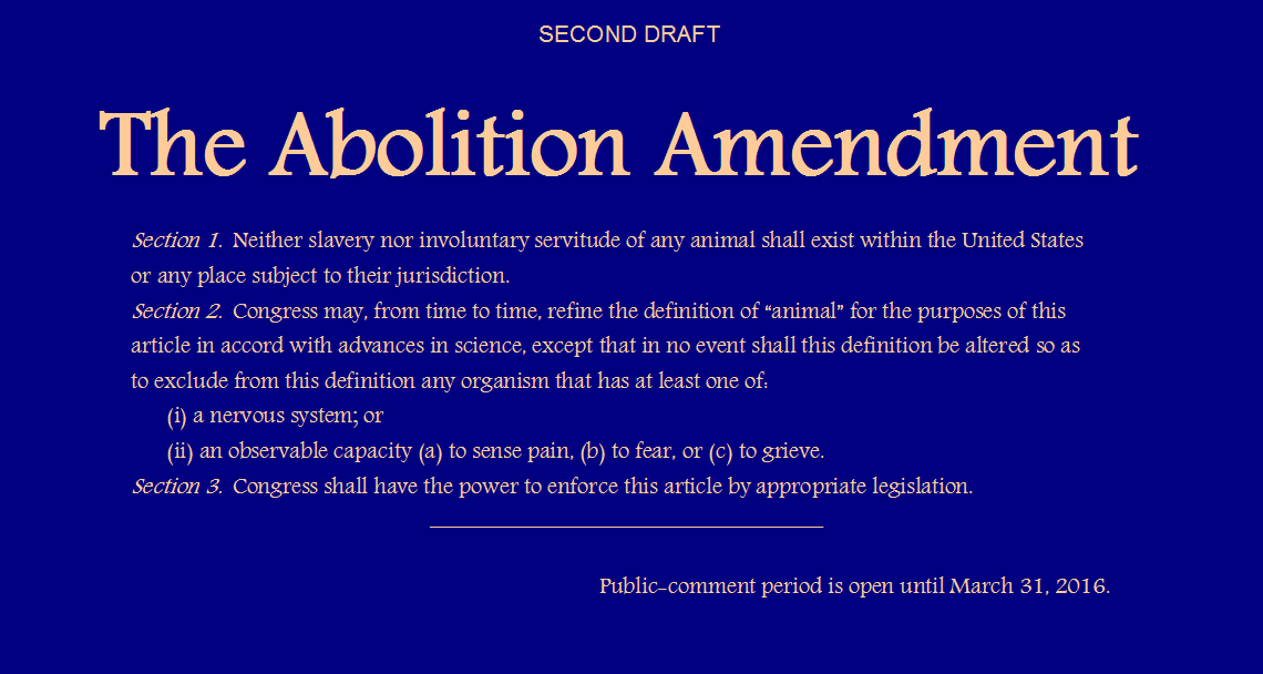 Abolition Amendment - second draft