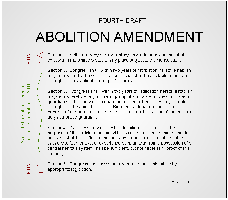 Abolition Amendment | Fourth Draft