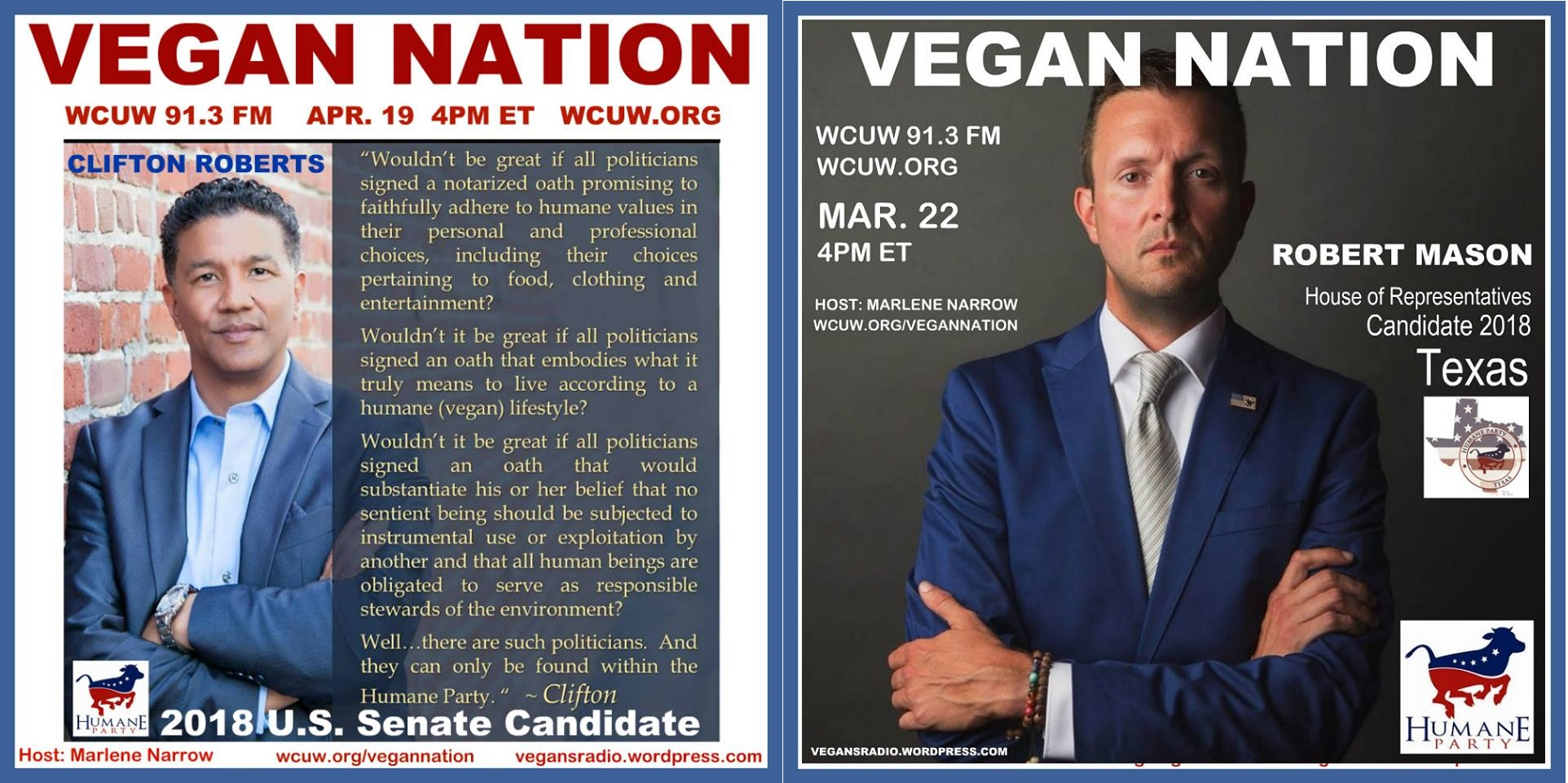 Vegan Nation to Interview Two Humane Party Candidates