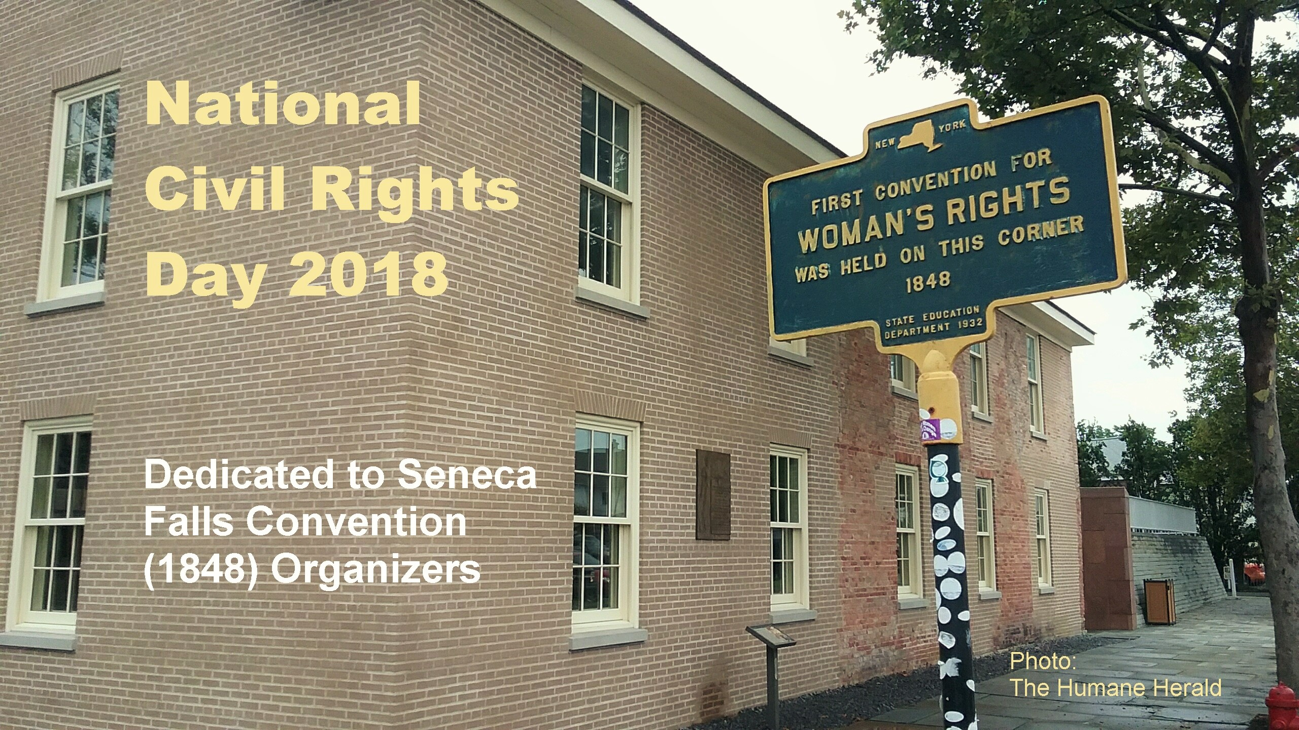 National Civil Rights Day Dedicated to Seneca Falls Convention Organizers