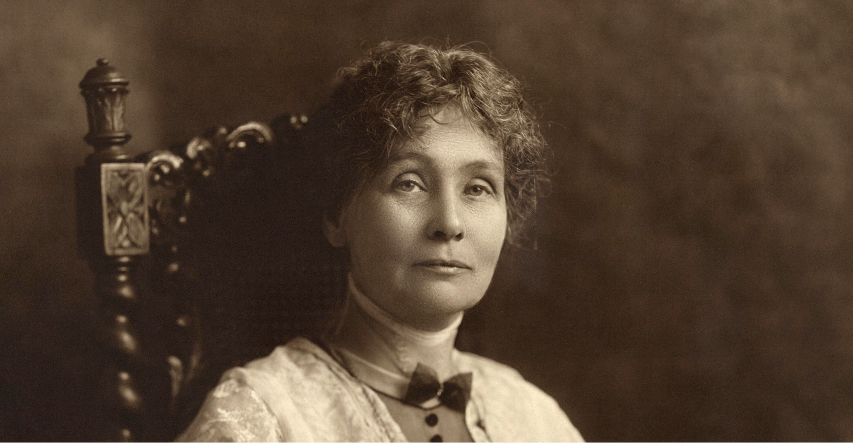 "Emmeline Pankhurst is one of the historical figures who are portrayed in ""Suffragette"""