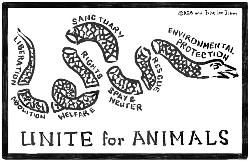 "Cartoon:  ""Unite for Animals"""
