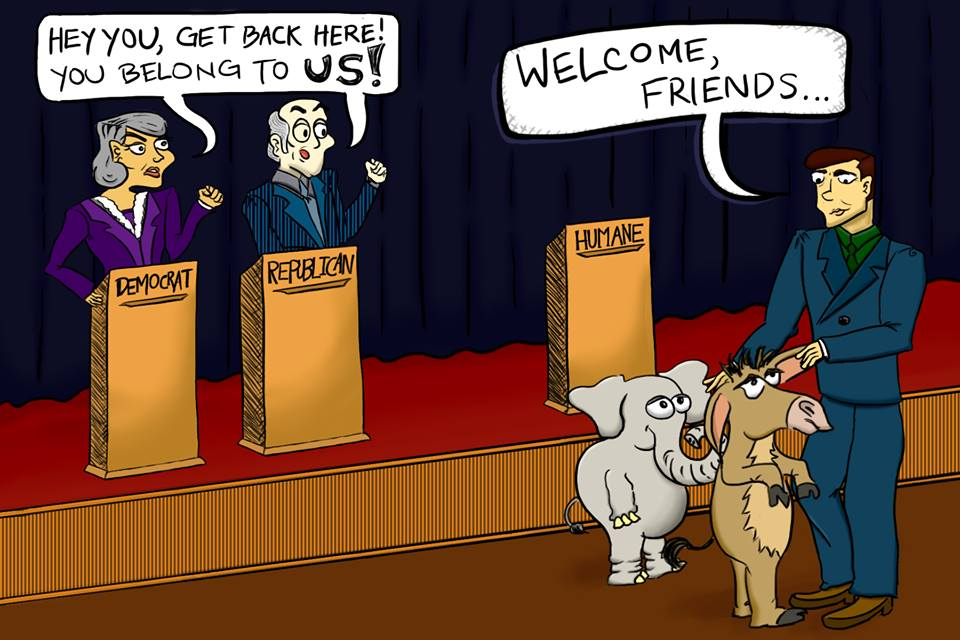 "Cartoon: ""Welcome, Friends…."""
